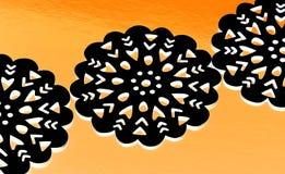 Zwarte doilies Royalty-vrije Stock Afbeelding