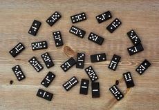 Zwarte domino's Royalty-vrije Stock Foto's