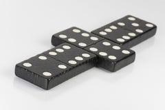 Zwarte Dominobakstenen Royalty-vrije Stock Foto's