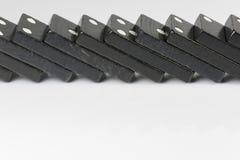 Zwarte Dominobakstenen Stock Foto's