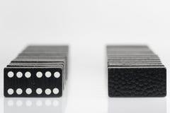 Zwarte Dominobakstenen Royalty-vrije Stock Afbeeldingen