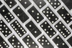 Zwarte Dominobakstenen Stock Foto