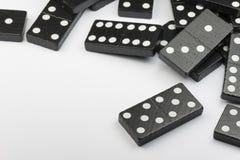 Zwarte Dominobakstenen Stock Fotografie