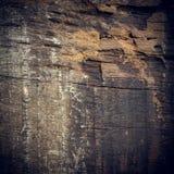 Zwarte donkere houten achtergrond Royalty-vrije Stock Foto