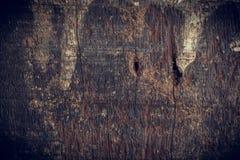Zwarte donkere houten achtergrond Stock Foto