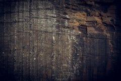 Zwarte donkere houten achtergrond, de houten oppervlakte van de raads ruwe korrel Royalty-vrije Stock Fotografie