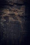 Zwarte donkere houten achtergrond, de houten oppervlakte van de raads ruwe korrel Stock Afbeeldingen