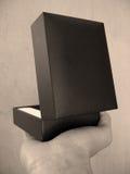 Zwarte doos Stock Fotografie