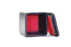 Zwarte doos met een rode basis Royalty-vrije Stock Foto's