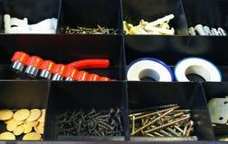 Zwarte doos voor hulpmiddelen Royalty-vrije Stock Afbeeldingen