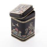 Zwarte doos voor thee. Royalty-vrije Stock Foto's