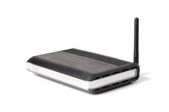 Zwarte Draadloze Router Stock Foto's