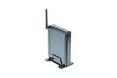 Zwarte Draadloze Router Royalty-vrije Stock Afbeeldingen
