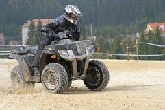 Zwarte draai ATV Royalty-vrije Stock Afbeeldingen