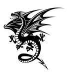 Zwarte draak Stock Foto's