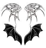 Zwarte Draakvleugels stock illustratie
