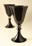 Zwarte Drinkbekers Stock Afbeelding