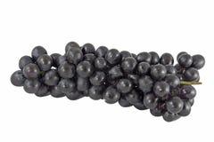 Zwarte Druiven op Wit Stock Foto