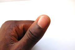 Zwarte duim royalty-vrije stock fotografie