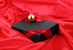 Zwarte elegante giftdoos Stock Afbeelding