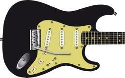 Zwarte elektrische gitaar Royalty-vrije Stock Foto