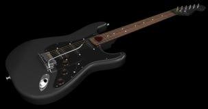 Zwarte elektrische gitaar Stock Foto's