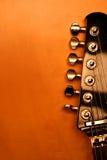 Zwarte elektrische gitaar - serie (Detail) Royalty-vrije Stock Foto's