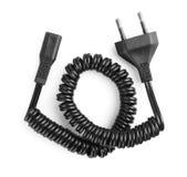 Zwarte elektrische kabel Stock Afbeelding