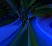 Zwarte en blauw. Netwerken Royalty-vrije Stock Fotografie
