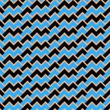 Zwarte en blauwe abstracte golven naadloze/tileable patroon/textuur Stock Fotografie