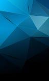 Zwarte en blauwe abstracte technologieachtergrond Stock Foto's