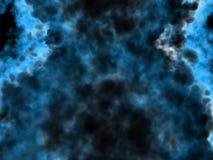 Zwarte en blauwe fantasie vreemde rook Royalty-vrije Illustratie