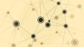 Zwarte en bruine punten van dynamisch netwerk Loopable conceptuele animatie royalty-vrije illustratie