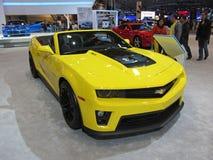 Zwarte en Gele Camaro Stock Foto