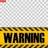 Zwarte en gele geïsoleerde voorzichtigheidslijnen vector illustratie