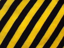 Zwarte en gele gestreepte stof Royalty-vrije Stock Afbeelding