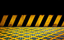 Zwarte en gele lijnen Stock Fotografie