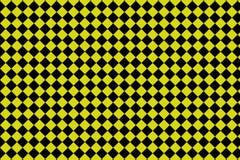 Zwarte en gele schaakbordachtergrond - Vectorilustration - EPS 10 royalty-vrije illustratie