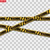 Zwarte en gele voorzichtigheidslijnen stock illustratie