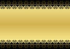 Zwarte en goud Stock Fotografie