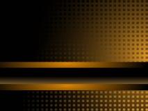 Zwarte en Gouden Achtergrond Royalty-vrije Stock Afbeeldingen