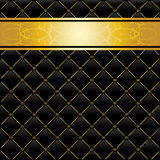 Zwarte en gouden achtergrond Stock Fotografie