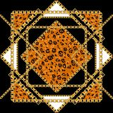 Zwarte en gouden luipaard royalty-vrije illustratie