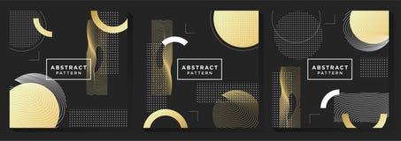 Zwarte en Gouden Patroonachtergrond vector illustratie