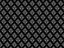 Zwarte en grijze bloemenachtergrond. Royalty-vrije Stock Fotografie