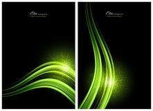 Zwarte en groene abstracte achtergronden Royalty-vrije Stock Foto