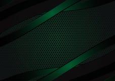 Zwarte en groene geometrische abstracte vectorachtergrond met exemplaarruimte met exemplaar ruimte modern ontwerp royalty-vrije illustratie