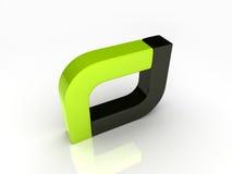 Zwarte en groene staven Stock Afbeelding