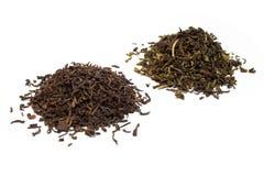 Zwarte en groene thee Royalty-vrije Stock Foto