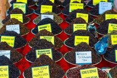 Zwarte en groene thee Stock Foto's